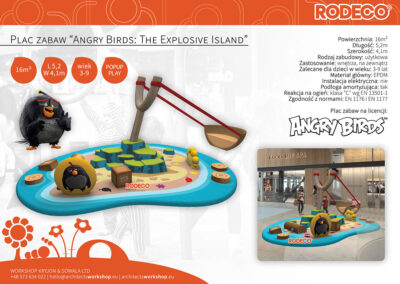 """Plac zabaw """"Angry Birds: The Explosive Island"""""""