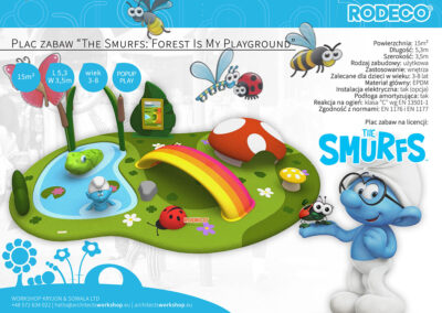 """Plac zabaw """"The Smurfs: Forest Is My Playground"""""""