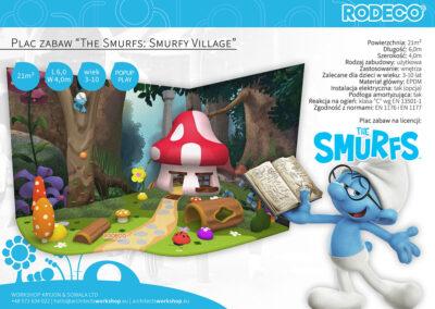 """Plac zabaw """"The Smurfs: Smurfy Village"""""""